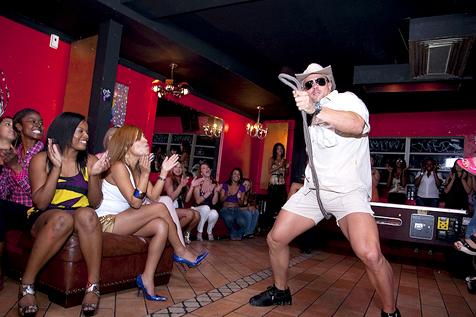 Male stripper blowout dancing bear