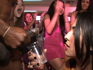 Hot girl drinks cum during bachelorette party