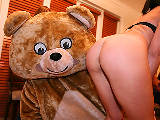 Dancing bear crashes this all female house party!
